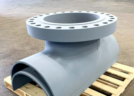 Hot tap tee with flange